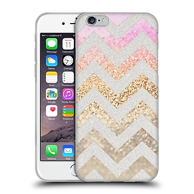 Official Monika Strigel Funky Chevron Gold Pink Soft Gel Case For Apple Iphone 6 / 6S