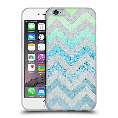Official Monika Strigel Funky Chevron Tiffany Blue Soft Gel Case For Apple Iphone 6 / 6S