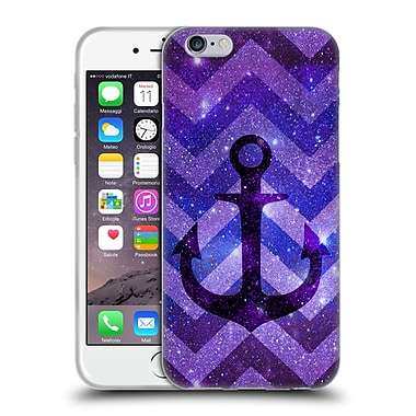 Official Monika Strigel Galaxy Anchors Purple Soft Gel Case For Apple Iphone 6 / 6S