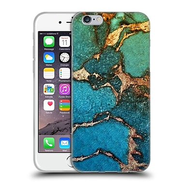 Official Monika Strigel Gemstone And Gold Green Soft Gel Case For Apple Iphone 6 / 6S