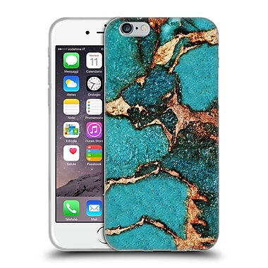 Official Monika Strigel Gemstone And Gold Turqouise Soft Gel Case For Apple Iphone 6 / 6S