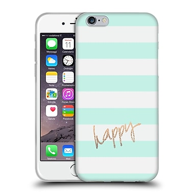 Official Monika Strigel Gold And Happy Stripes Soft Gel Case For Apple Iphone 6 / 6S