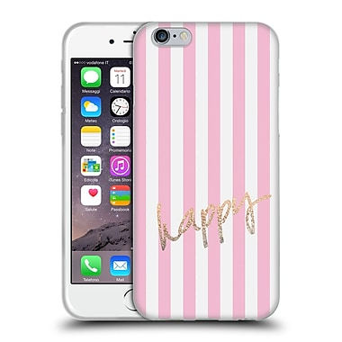 Official Monika Strigel Gold And Happy Vertical Soft Gel Case For Apple Iphone 6 / 6S