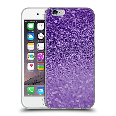 Official Monika Strigel Glitters Purple Soft Gel Case For Apple Iphone 6 / 6S