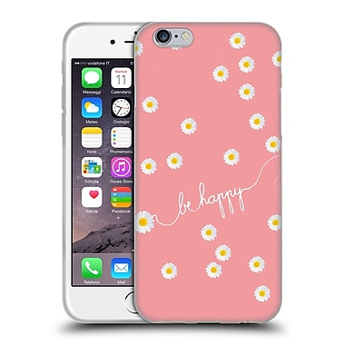 Official Monika Strigel Happy Daisy Coral Soft Gel Case For Apple Iphone 6 / 6S