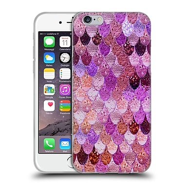 Official Monika Strigel Happy Mermaid Sunset Pink Soft Gel Case For Apple Iphone 6 / 6S