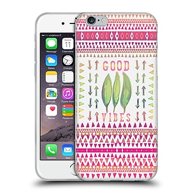Official Monika Strigel Happy Quote Good Vibes Soft Gel Case For Apple Iphone 6 / 6S