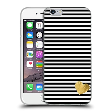 Official Monika Strigel Little Heart Black Soft Gel Case For Apple Iphone 6 / 6S