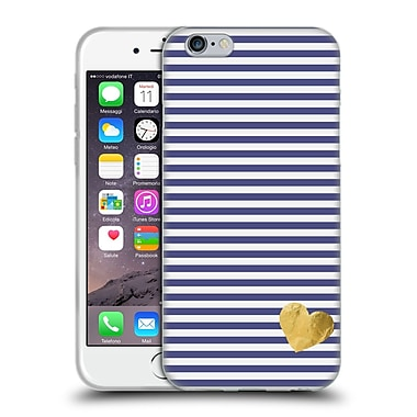 Official Monika Strigel Little Heart Blue Soft Gel Case For Apple Iphone 6 / 6S