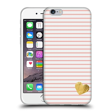 Official Monika Strigel Little Heart Peach Soft Gel Case For Apple Iphone 6 / 6S
