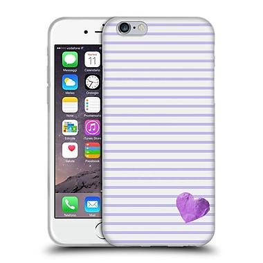 Official Monika Strigel Little Heart Purple Soft Gel Case For Apple Iphone 6 / 6S
