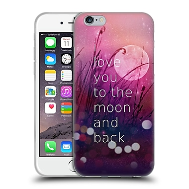 Official Monika Strigel Love Quote Pink Soft Gel Case For Apple Iphone 6 / 6S