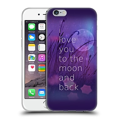 Official Monika Strigel Love Quote Purple Soft Gel Case For Apple Iphone 6 / 6S