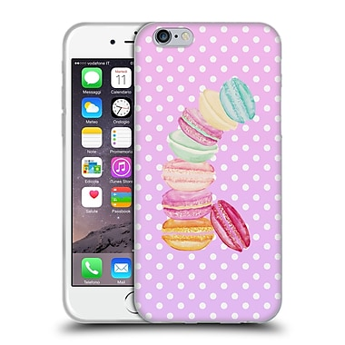 Official Monika Strigel Macarons Pink Soft Gel Case For Apple Iphone 6 / 6S