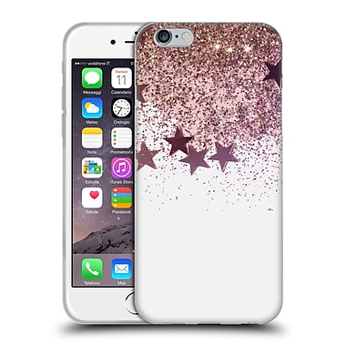 Official Monika Strigel Shaky Stars Gold Pink Mix Soft Gel Case For Apple Iphone 6 / 6S