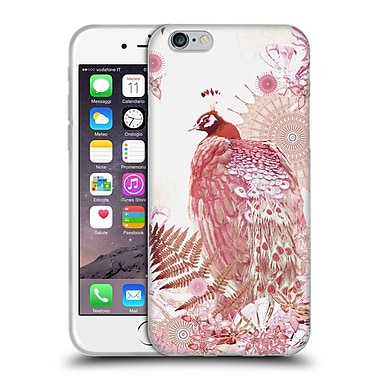 Official Monika Strigel Tropical Peacock Coral Soft Gel Case For Apple Iphone 6 / 6S