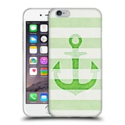 Official Monika Strigel Vintage Anchors Apple Green Soft Gel Case For Apple Iphone 6 / 6S