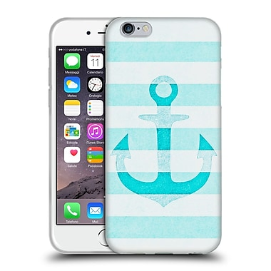 Official Monika Strigel Vintage Anchors Aqua Soft Gel Case For Apple Iphone 6 / 6S