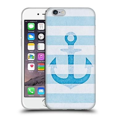 Official Monika Strigel Vintage Anchors Blue Soft Gel Case For Apple Iphone 6 / 6S