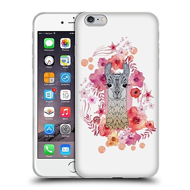 Official Monika Strigel Animals And Flowers Baby Lama Soft Gel Case For Apple Iphone 6 Plus / 6S Plus