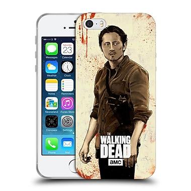 Official Amc The Walking Dead Distressed Illustrations Glenn Soft Gel Case For Apple Iphone 5 / 5S / Se