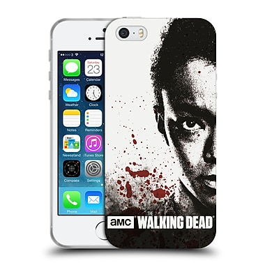 Official Amc The Walking Dead Gore Half Face Sasha Soft Gel Case For Apple Iphone 5 / 5S / Se