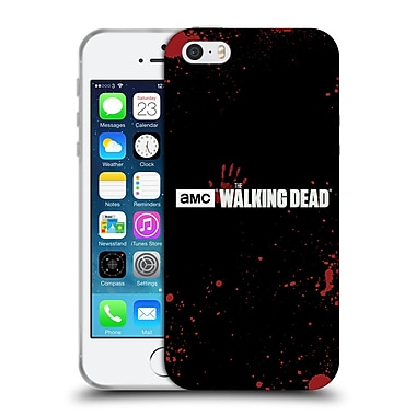 Official Amc The Walking Dead Logo Blood Black Soft Gel Case For Apple Iphone 5 / 5S / Se