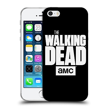 Official Amc The Walking Dead Logo Black Soft Gel Case For Apple Iphone 5 / 5S / Se