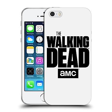 Official Amc The Walking Dead Logo White Soft Gel Case For Apple Iphone 5 / 5S / Se