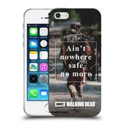 Official Amc The Walking Dead Quotes Daryl Nowhere Safe Soft Gel Case For Apple Iphone 5 / 5S / Se