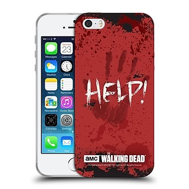 Official Amc The Walking Dead Quotes Help Soft Gel Case For Apple Iphone 5 / 5S / Se
