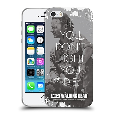 Official Amc The Walking Dead Quotes Rick Fight Soft Gel Case For Apple Iphone 5 / 5S / Se