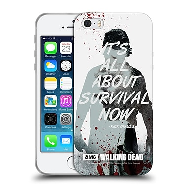 Official Amc The Walking Dead Quotes Rick Survival Soft Gel Case For Apple Iphone 5 / 5S / Se