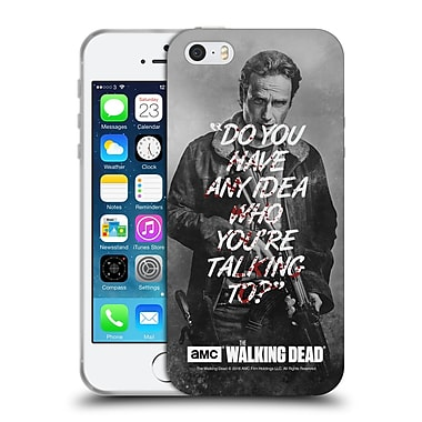 Official Amc The Walking Dead Quotes Rick Talk Soft Gel Case For Apple Iphone 5 / 5S / Se