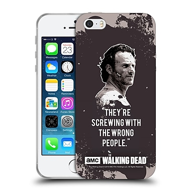 Official Amc The Walking Dead Quotes Rick Trap Soft Gel Case For Apple Iphone 5 / 5S / Se