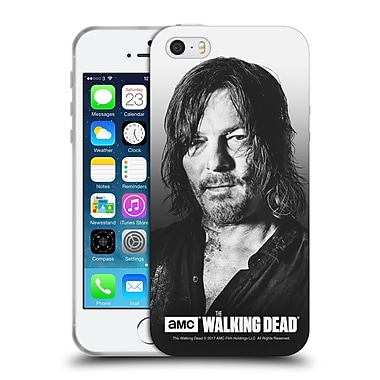 Official Amc The Walking Dead Filtered Portraits Daryl Soft Gel Case For Apple Iphone 5 / 5S / Se