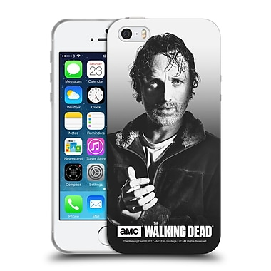 Official Amc The Walking Dead Filtered Portraits Rick Soft Gel Case For Apple Iphone 5 / 5S / Se