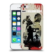 Official Amc The Walking Dead Silhouettes Daryl Full Soft Gel Case For Apple Iphone 5 / 5S / Se