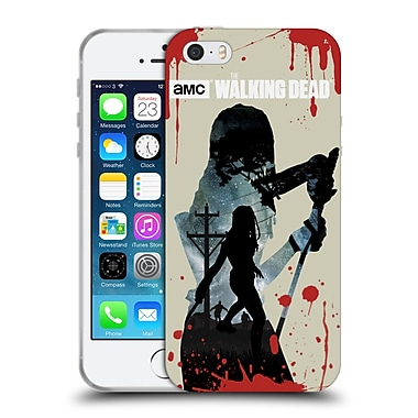 Official Amc The Walking Dead Silhouettes Michonne Soft Gel Case For Apple Iphone 5 / 5S / Se