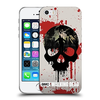 Official Amc The Walking Dead Silhouettes Skull Soft Gel Case For Apple Iphone 5 / 5S / Se