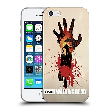 Official Amc The Walking Dead Silhouettes Walker Hand Soft Gel Case For Apple Iphone 5 / 5S / Se