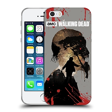 Official Amc The Walking Dead Silhouettes Walker Soft Gel Case For Apple Iphone 5 / 5S / Se