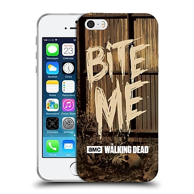 Official Amc The Walking Dead Typography Bite Me Soft Gel Case For Apple Iphone 5 / 5S / Se