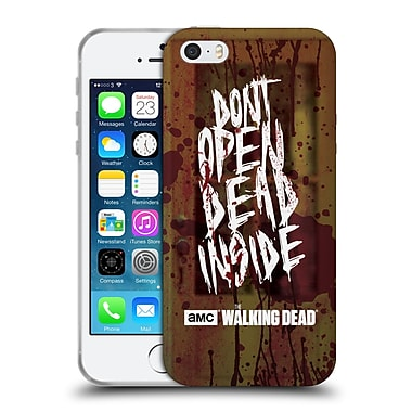 Official Amc The Walking Dead Typography Do Not Open Soft Gel Case For Apple Iphone 5 / 5S / Se