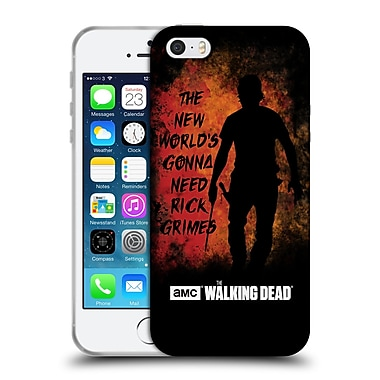 Official Amc The Walking Dead Typography Gonna Need Rick Soft Gel Case For Apple Iphone 5 / 5S / Se