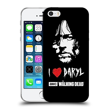 Official Amc The Walking Dead Typography Love Daryl Face Soft Gel Case For Apple Iphone 5 / 5S / Se