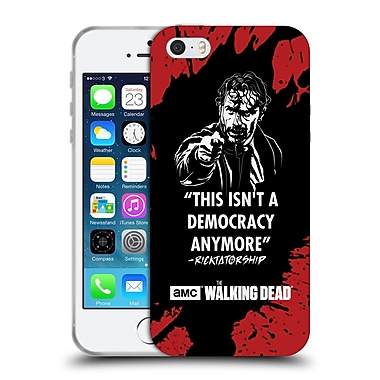 Official Amc The Walking Dead Typography Ricktatorship Soft Gel Case For Apple Iphone 5 / 5S / Se