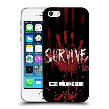 Official Amc The Walking Dead Typography Survive Hand Soft Gel Case For Apple Iphone 5 / 5S / Se
