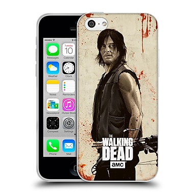 Official Amc The Walking Dead Distressed Illustrations Daryl Soft Gel Case For Apple Iphone 5C