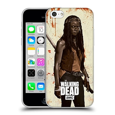 Official Amc The Walking Dead Distressed Illustrations Michonne Soft Gel Case For Apple Iphone 5C